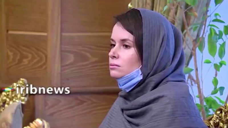 Kylie Moore-Gilbert, who was detained in Iran in 2018 and sentenced to 10 years in prison on espionage charges, is pictured after she was released in exchange for three Iranians who had been detained abroad, in Tehran Iran, in this still image taken from a video and obtained on November 26, 2020. IRIBNEWS/WANA (West Asia News Agency) via REUTERS