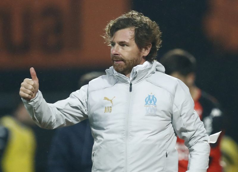 Soccer Football - Ligue 1 - Lorient v Olympique de Marseille - Stade du Moustoir, Lorient, France - October 24, 2020 Olympique de Marseille coach Andre Villas-Boas reacts REUTERS/Stephane Mahe