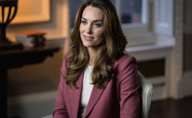 Britain's Catherine, Duchess of Cambridge gives a keynote speech at The Royal Foundation's Forum on the Early Years, Britain November 27, 2020. Duchess of Cambridge/Handout via REUTERS