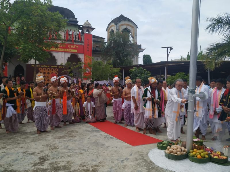 Several civil society organizations today celebrated the 73rd Manipur Independence Day on August 14. (NNN Photo)
