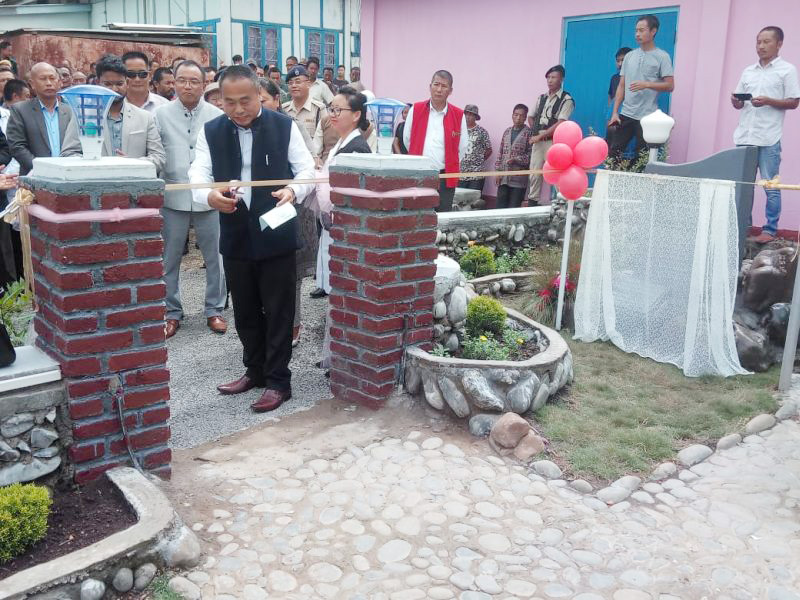 Phek District Hospital Park inaugurated