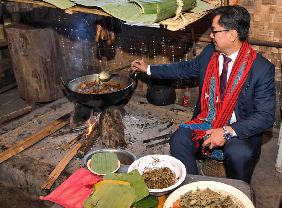 'When in Nagaland, do as the Nagas do!,' says Rijiju whilse 'cooking' in Kisama