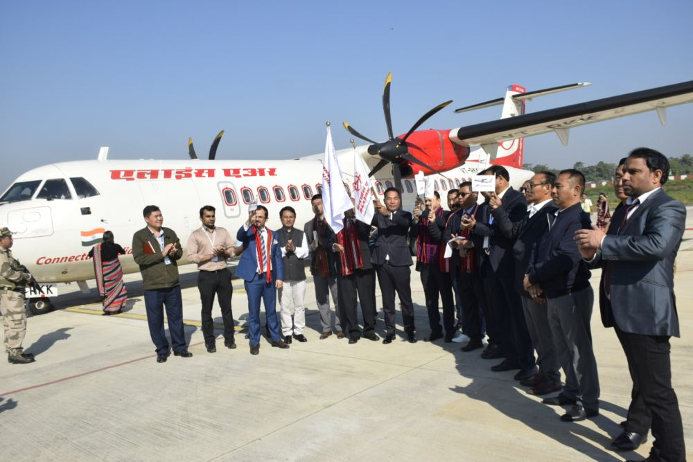 Alliance Air begins flight service in Guwahati-Dimapur-Imphal  route under UDAN scheme