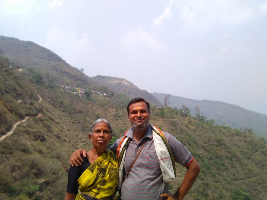 40-year old D Krishna Kumar with his 80-year old mother
